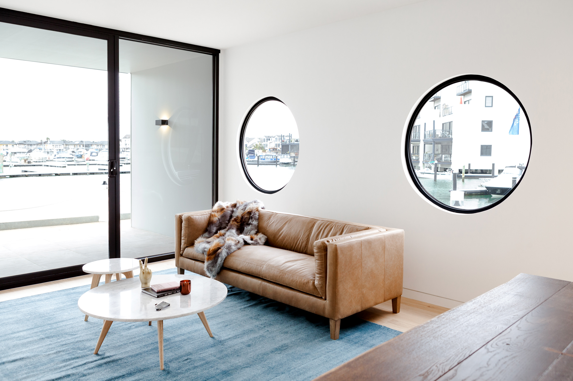 Brompton residential construction living room